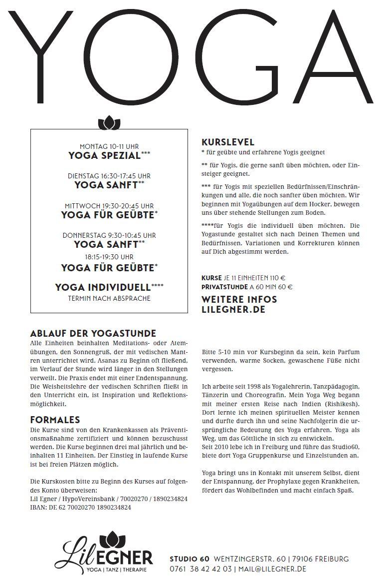 Infoblatt Yoga